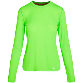 saucony Stopwatch Long Sleeve Women, verde